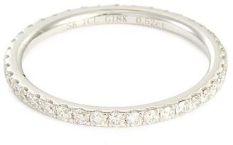 Diamond 18k white gold eternity ring