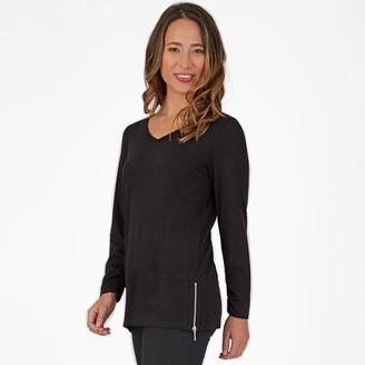 Apt. 9 Women's Side Zipper Long Sleeve Top
