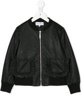 Simonetta zipped bomber jacket - kids - Polyester/Polyurethane/Spandex/Elastane/Viscose - 4 yrs