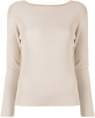 TOMORROWLAND Boat-Neck Silk Pullover