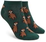 Forever 21 FOREVER 21+ Raccoon Print Ankle Socks