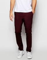 Asos Slim Suit Pants In Poplin