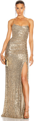 Dundas Sequin Gown in Gold | FWRD