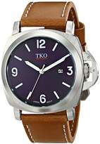men s watch blue face brown leather shopstyle tko men s silver case big blue face military aviator brown tan leather strap watch tk654tn