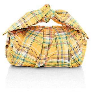 REJINA PYO Nane Knotted Plaid Barrel Bag