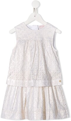 Lili Gaufrette Embroidered Layered Dress