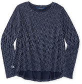 Ralph Lauren Polka-Dot Cotton Jersey Top