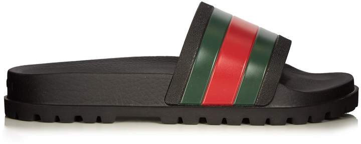 Gucci Web rubber pool slides