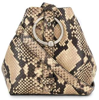 Rebecca Minkoff snake print bucket bag