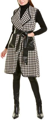 Gracia Houndstooth Vest