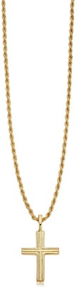 Missoma Lucy Williams Gold Classic Cross Necklace