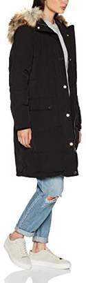Vila CLOTHES Women's Vicalifornia Down Coat-fav Jacket, Black, 36 (Size: )