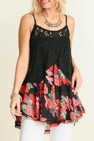 Umgee USA Black Floral Tunic