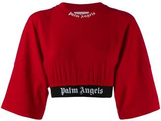 Palm Angels cropped sweat T-shirt