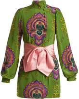 Gucci Treasure-print silk crepe de Chine top