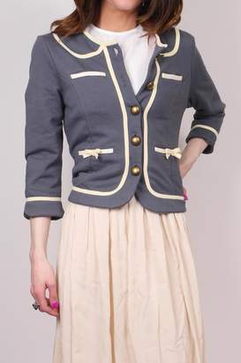 Knitted Dove Bow Pocket Jacket