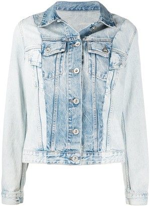 Unravel Project Two-Tone Denim Jacket