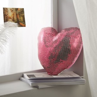 Heritage Club Sequin Heart Decorative Pillow for Kids by Better Homes & Gardens