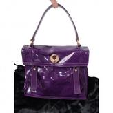 Saint Laurent Purple Patent leather Handbag Muse Two