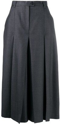 Maison Margiela Houndstooth-Pattern Cropped Trousers