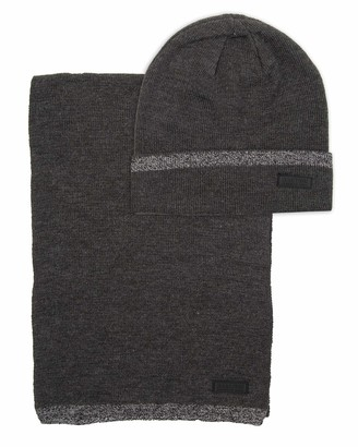 Kenneth Cole Reaction Men's Warm Winter Beanie Hat & Scarf Gift Set