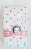 Gerber Swaddling Blanket Single Pack (Pink and Blue Dots) by