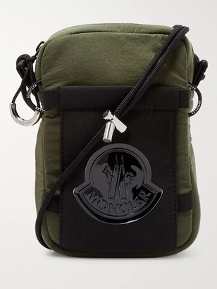 Moncler Logo-Appliqued Shell Messenger Bag