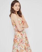SENONA Floral printed appliqué lace dress