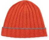 Brunello Cucinelli Cashmere Ribbed Beanie Hat