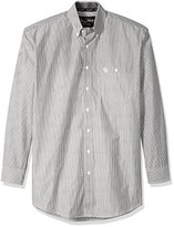 Wrangler Men's Big and Tall George Strait Black/Emerald One Pocket Long Sleeve Shirt