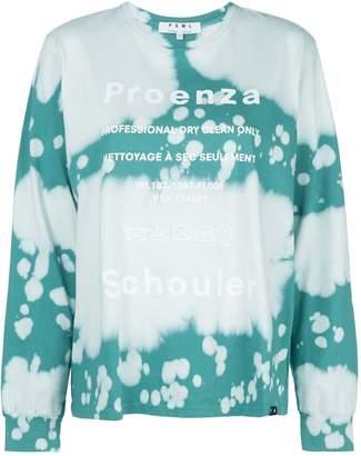Proenza Schouler logo print tie-dye T-shirt