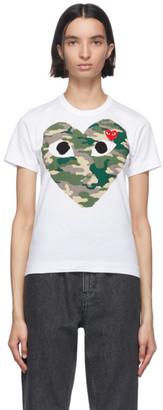 Comme des Garcons White Camo Half Heart T-Shirt