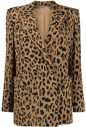 BLAZÉ MILANO Leopard Print Boxy Blazer