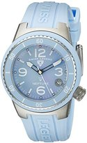 Swiss Legend Women's 11840P-012-MOP Neptune Light Blue Mother-Of-Pearl Dial Light Blue Silicone Watch