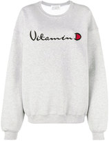 Drifter Grey Helios embroidered sweatshirt