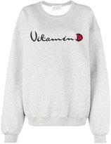 Drifter Grey Helios embroidered sweatshirt