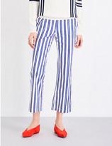 MiH Jeans Coler flared cropped cotton trousers