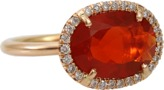 Irene Neuwirth JEWELRY Fire Opal Diamond Pave Ring