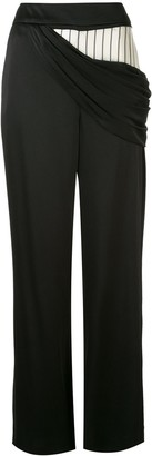 Monse Draped Detail Satin Trousers