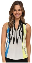 Jamie Sadock Monarch Print Sleeveless Top