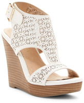 Restricted Misty Laser-Cut Wedge Sandal
