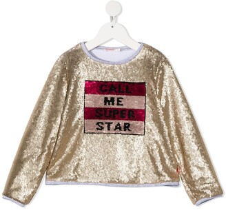 Billieblush Sequin-Embellished Longsleeved T-Shirt