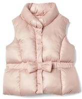 Bow puffer vest