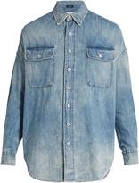R 13 X-Oversized denim shirt