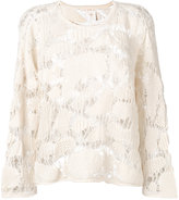 See by Chloe knitted top - women - Cotton - L