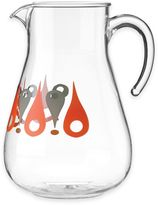 Dansk The Burbs Acrylic Pitcher in Clear/Orange/Grey
