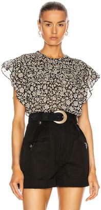 Etoile Isabel Marant Layona Top in Black | FWRD