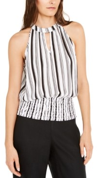 INC International Concepts Inc Striped Halter Top, Created for Macy's