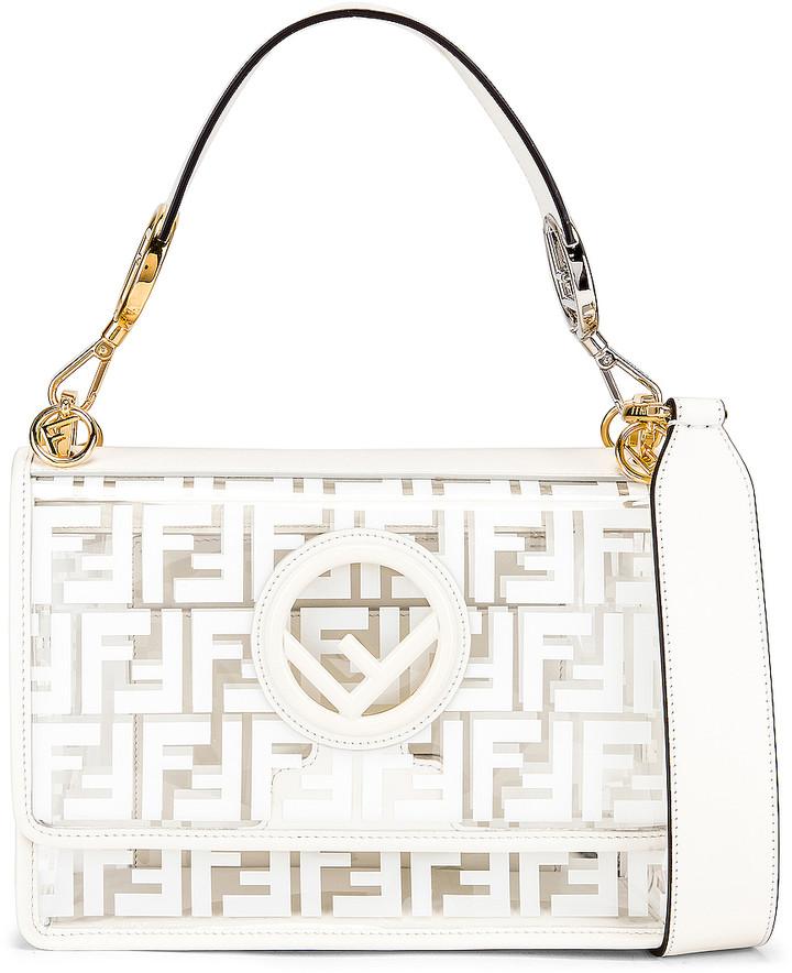a3edd8bc Kan I Logo Crossbody Bag in White   FWRD