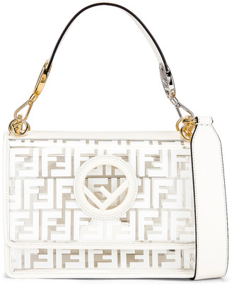 Fendi Kan I Logo Crossbody Bag in White | FWRD